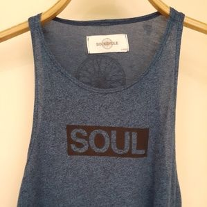 Blue soulcycle tank top
